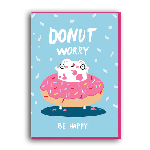 Forever funny greeting cards illustration donut worry be happy m4hsunfo Images