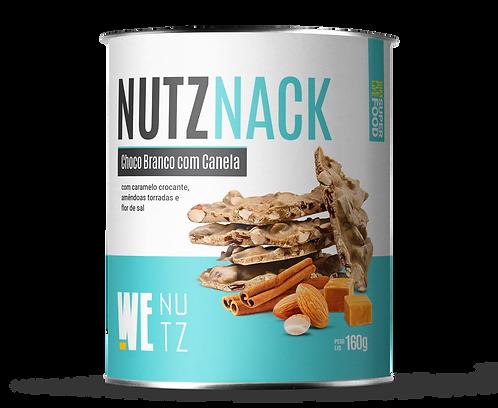 Nutznack - Chocolate branco com caramelo crocante e amêndoas torradas