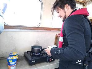 Cooking at sea