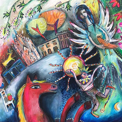 A dynamic Charmed Surrealism Painting