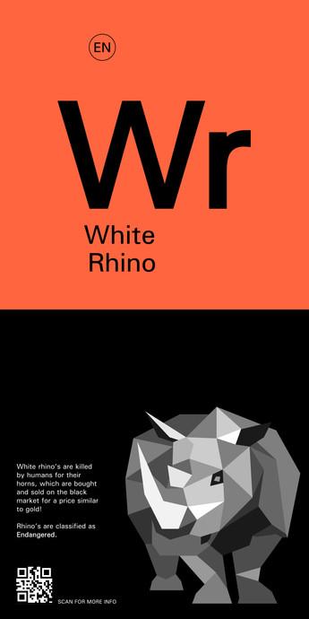 Zoo Sign 3 (White Rhino)