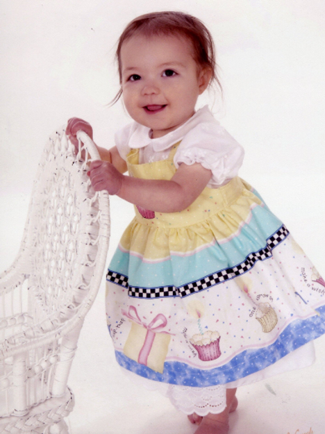 First Birthday Dress and Pinafore