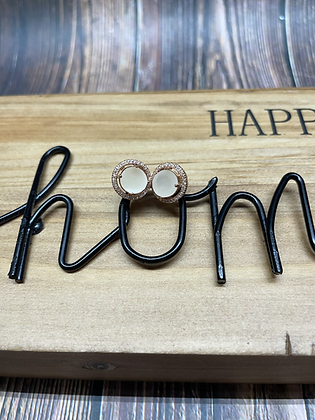 Round Halo Earings