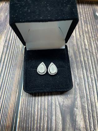 Teardrop Halo Earrings