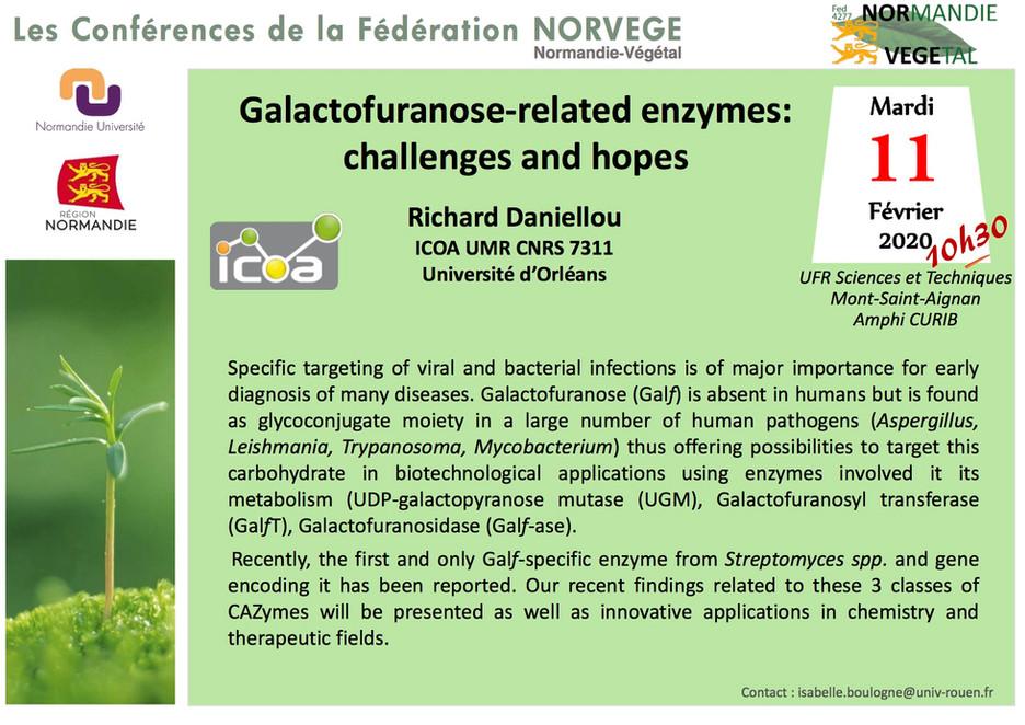 Le 11 février 2019 à 10h30, Amphi CURIB, MSA: le Pr. Richard DANIELLOU (ICOA UMR CNRS 7311 – Univers