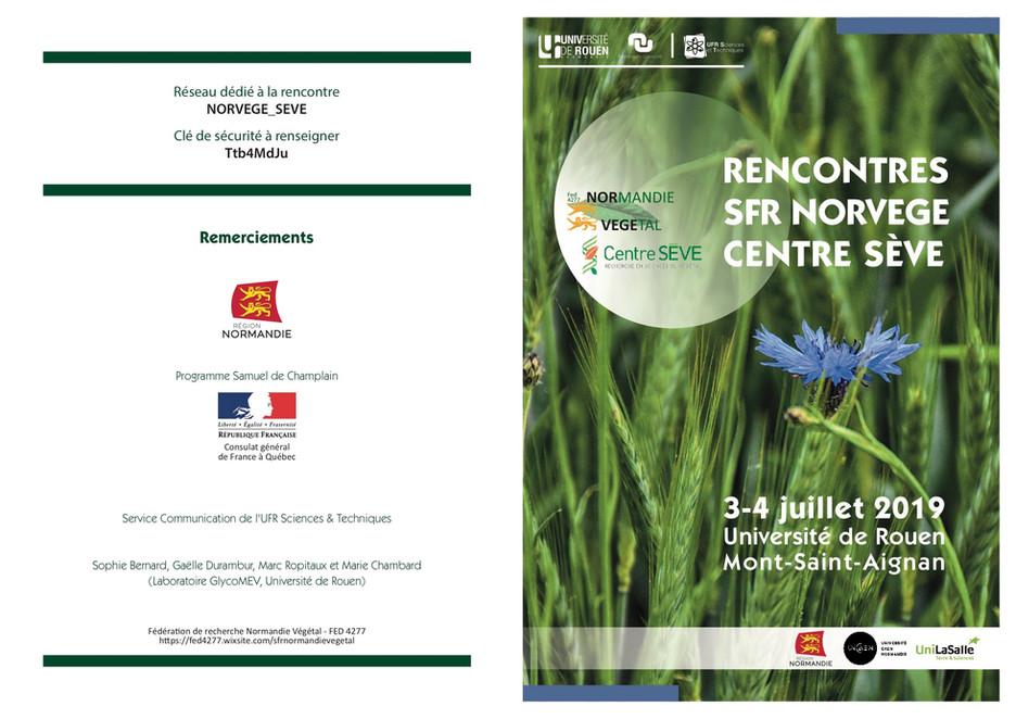 Rencontre SFR Normandie Végétal/centre SEVE  3-4 juillet 2019, Mont Saint Aignan, France