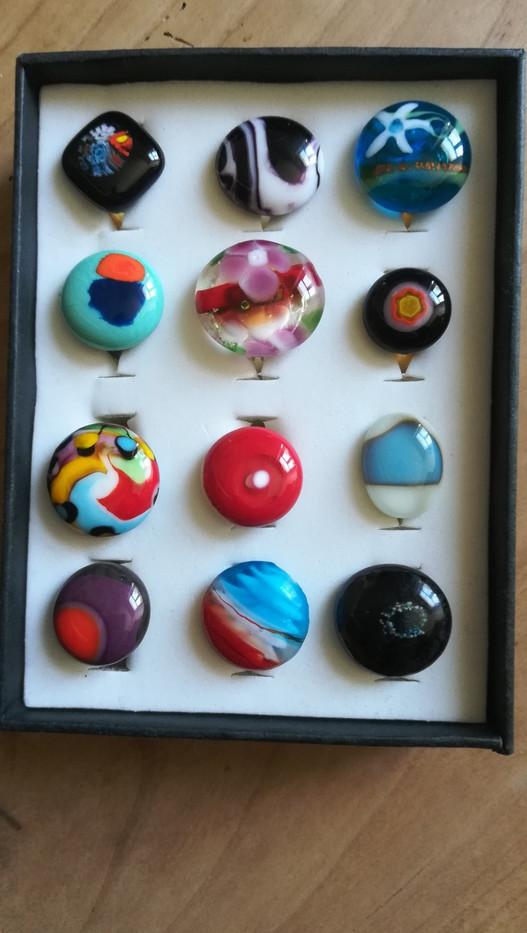 Bijoux en verre de Murano & Bullseye