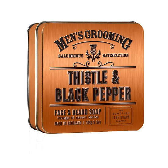 The Scottish Fine Soaps Company Thistle & Black Pepper Skæg og Ansigtsrens 100 g