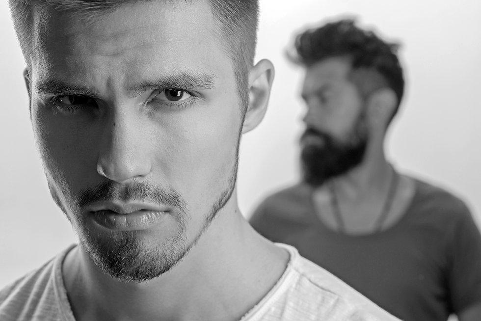 fashion men with unshaven beard. male gr