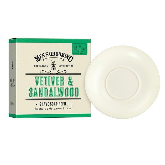 The Scottish Fine Soaps Company Vetiver & Sandalwood Barbersæbe Refill 100 g
