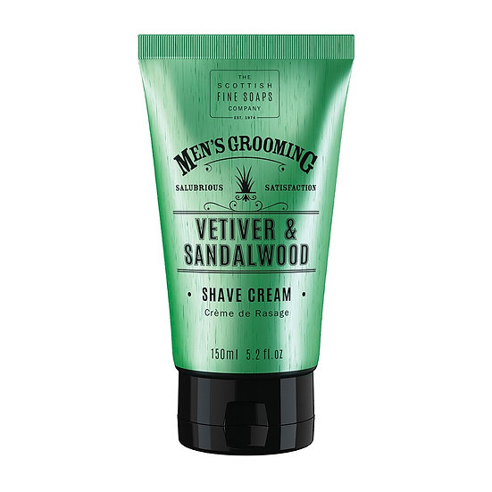 The Scottish Fine Soaps Vetiver & Sandalwood Barbercreme 150 ml