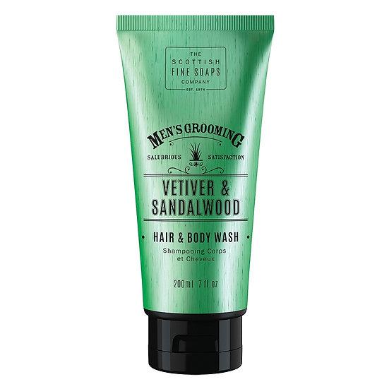 The Scottish Fine Soaps Company Vetiver & Sandalwood Hair & Body Wash 200 ml