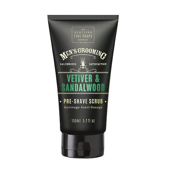The Scottish Fine Soaps Company Vetiver & Sandalwood Pre-Shave Scrub 150 ml