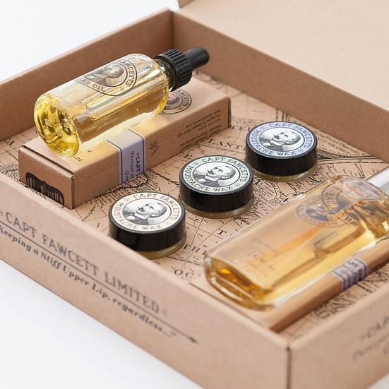 Capt Fawcett Luksus Gaveæske Med Parfume Og Skægplejeprodukter