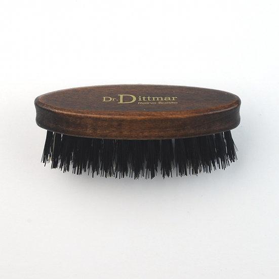 DR Dittmar Dark Varnished Small Oval Beard Brush