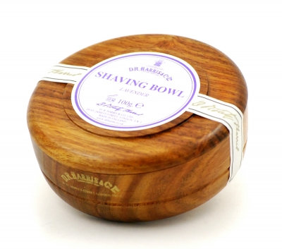 D.R. Harris Lavendel Barbersæbe i Mahogni træskål 100 g