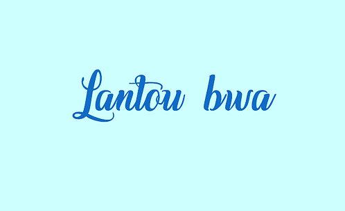 Lantou bwa - 7 Pièces Créoles Vol 3