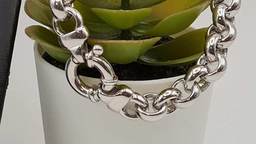 bracelet argent jaseron