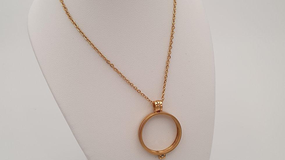collier acier doré pour pierre interchangeable