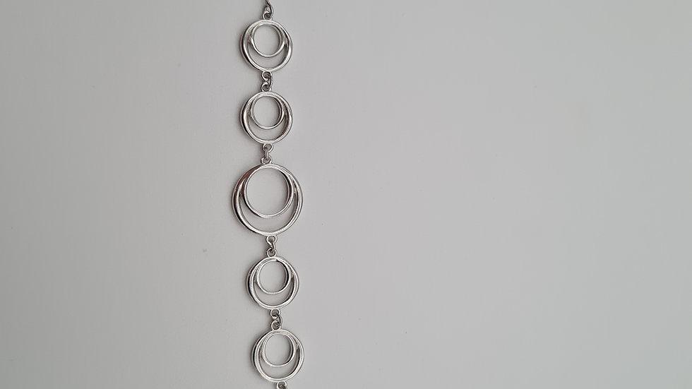 bracelet argent carré ronds