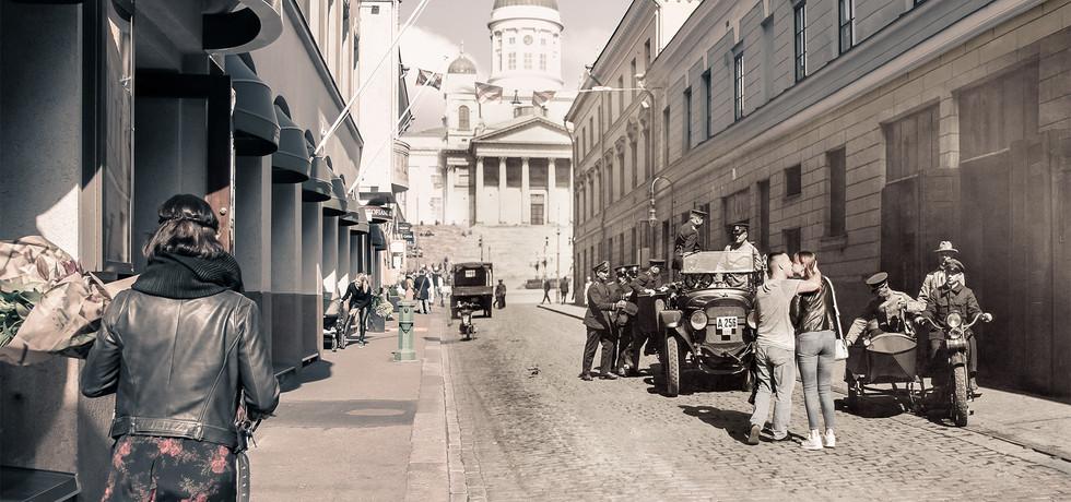 """Action on Sofia Street"""
