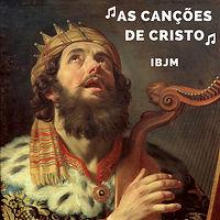 Pintura antiga de Davi tocando harpa