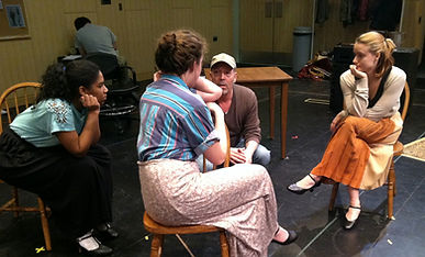 Nyalls Hartman in Rehearsal for These Shining Lives