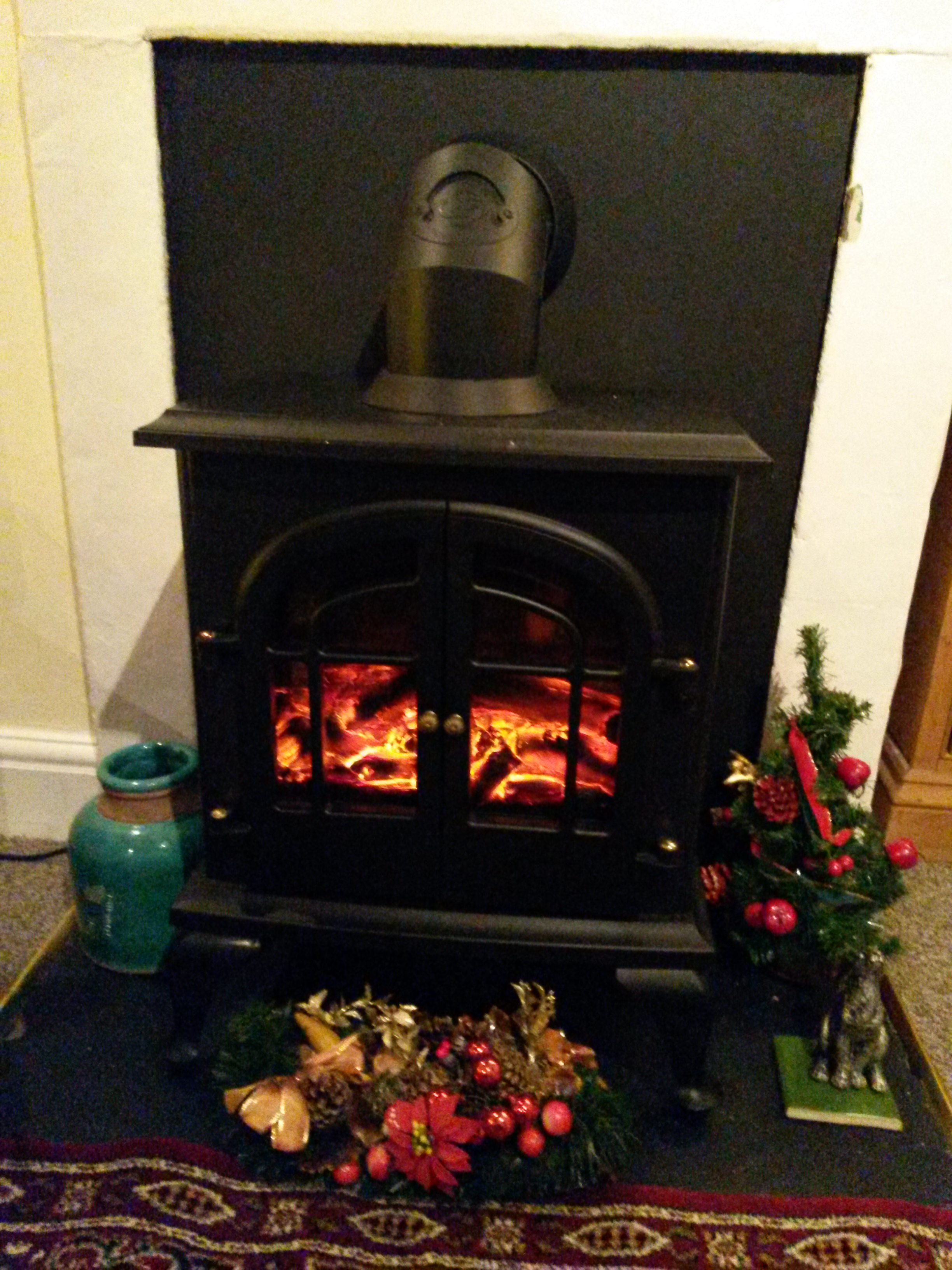 Electric log burner -  Christmas tim