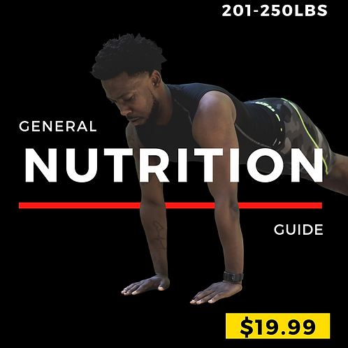 Meal Guide(201 to 250lbs)