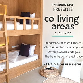 wooden bunk beds, wooden ladder, white fiitted sheets on single mattress, navy blue and white cushions, jute rug, white cushion on floor tiles, white fidora hat
