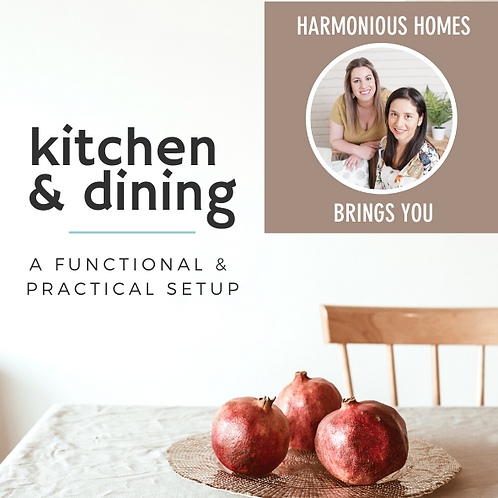 KITCHEN & DINING: A practical & functional setup