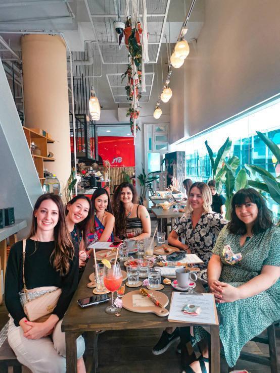 The Bangkok Boss Babes team at lunch