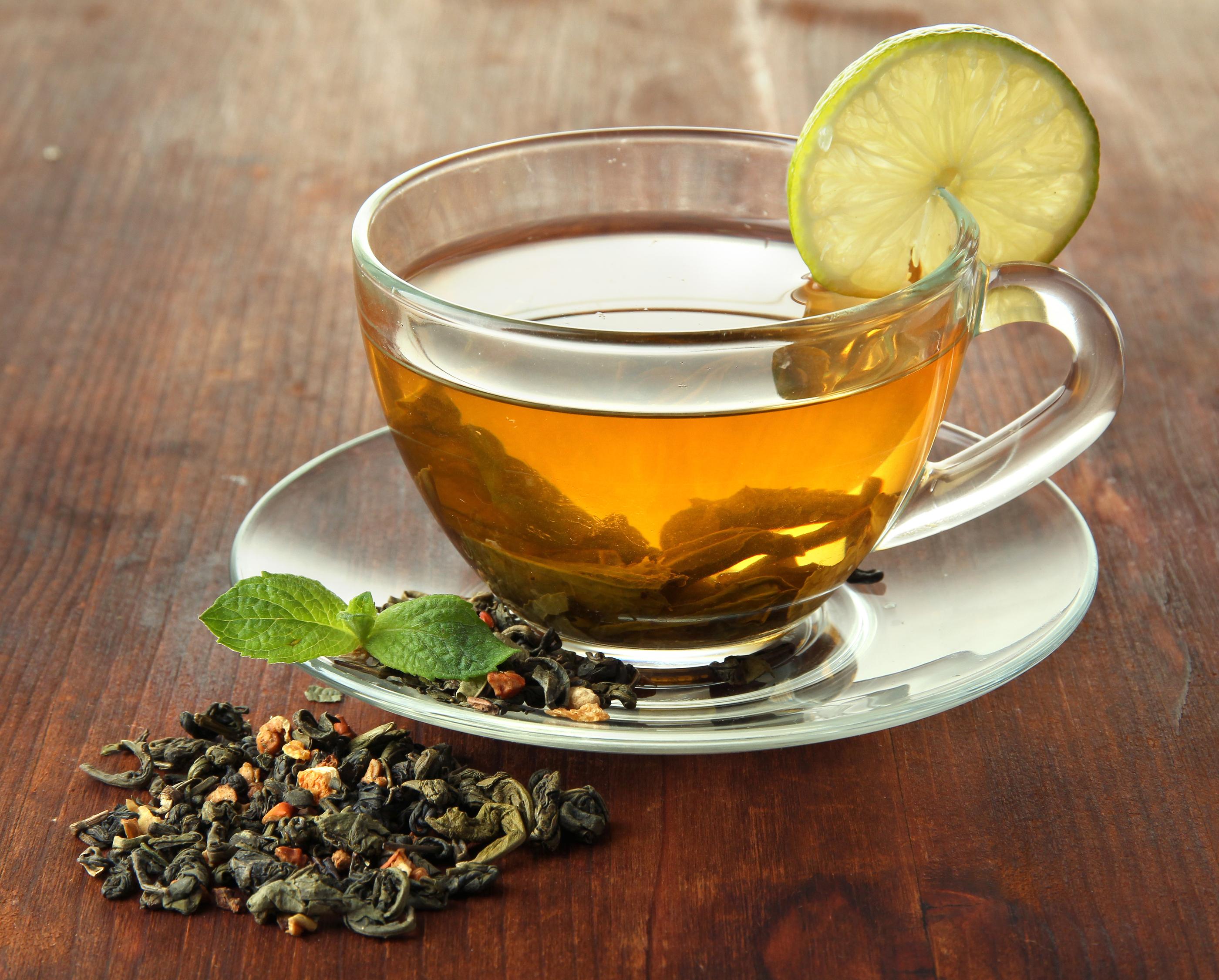 Открытка, картинки зеленый чай в кружке