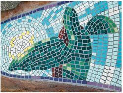 Tidal Encounters -mosaic tile detail