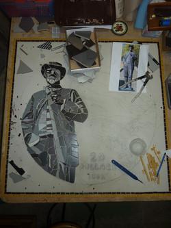'Gold Rush' mosaic work in progress