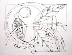 bird in moonlight