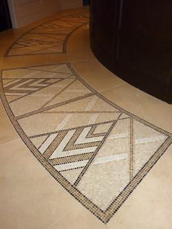 Left side mosaic marble inlay