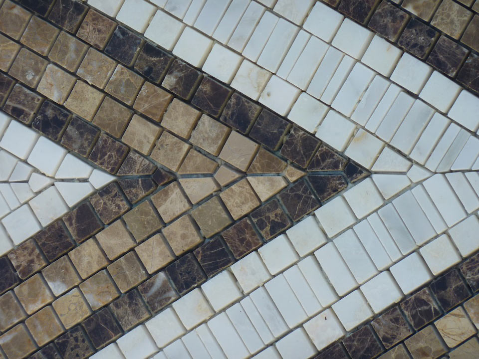Mosaic marble work in detail - 2