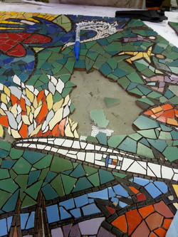 Queensburry Mosaic torch