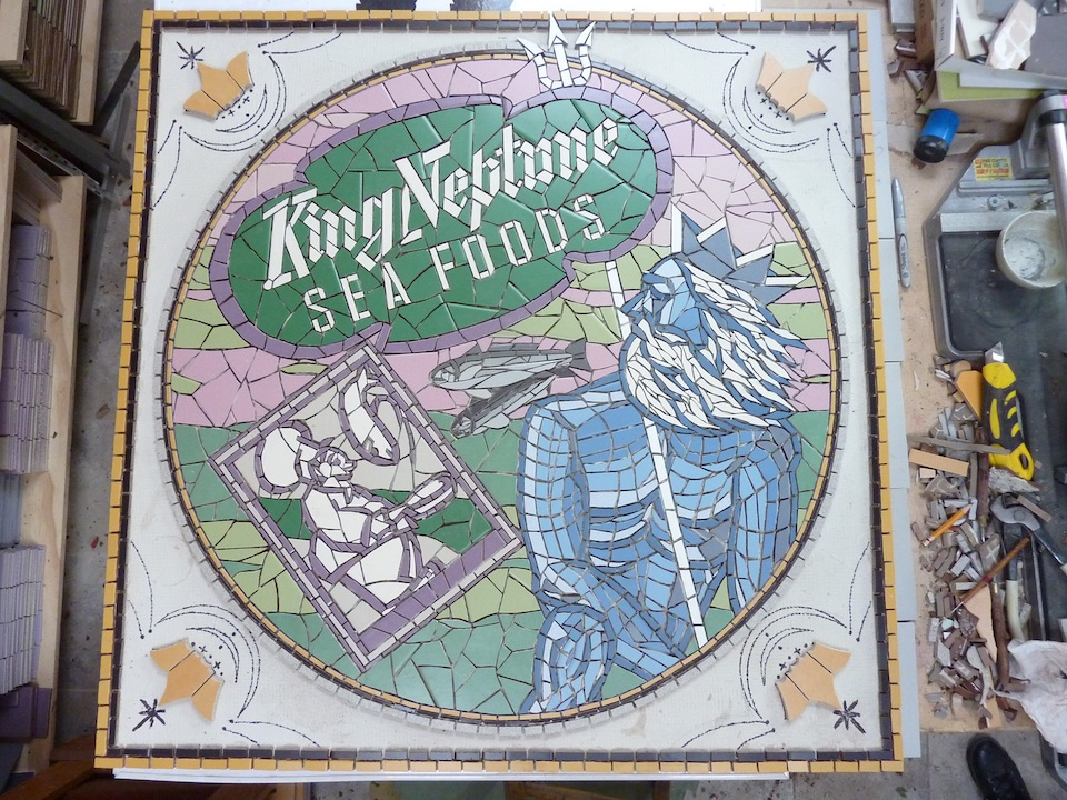 'King Neptune' work in progress