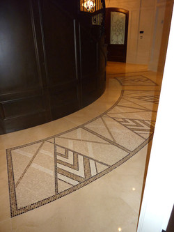 Right side mosaic marble inlay