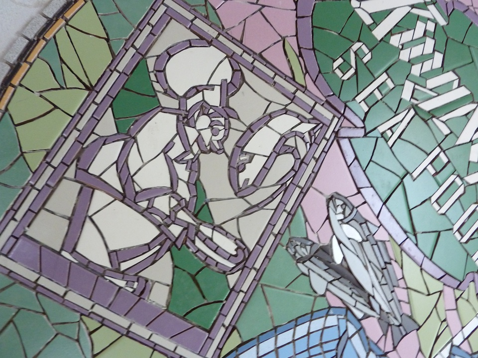 mosaic detail from original menu