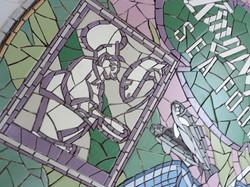 mosaic detail from original menu