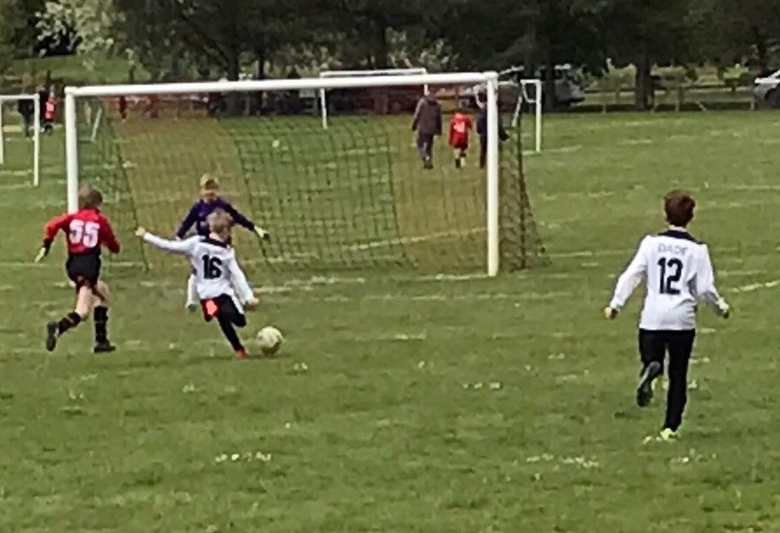 Invicta U11 striker about to make his mark