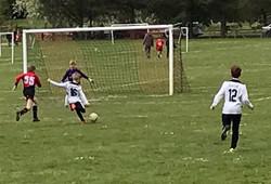 Invicta U11 striker about to make his mark