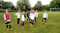 Under 11's getting ready on Match Day