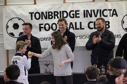 Presenting the Golden Boot to a U11 player