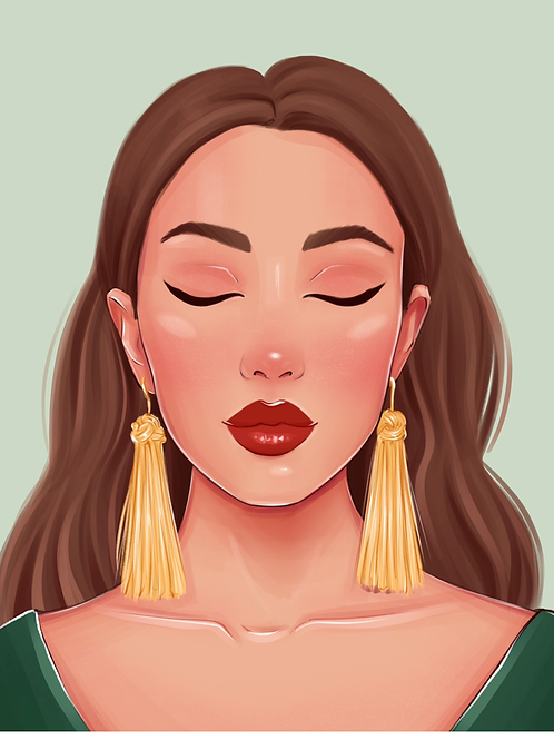 Personalized illustration with Handmade Lashes