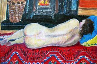 Fireside Nude