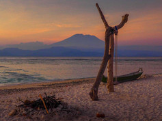 View of Mount Agung from Nusa Lembongan